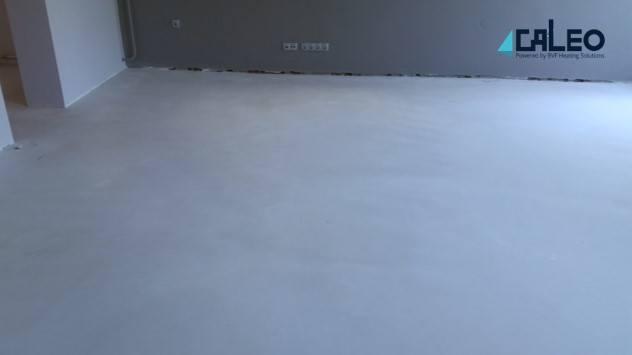 CALEO Efficient hőtároló padlófűtés kivitelezése - kész állapot